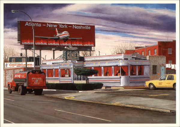 Airline Diner John Baeder Pop Art