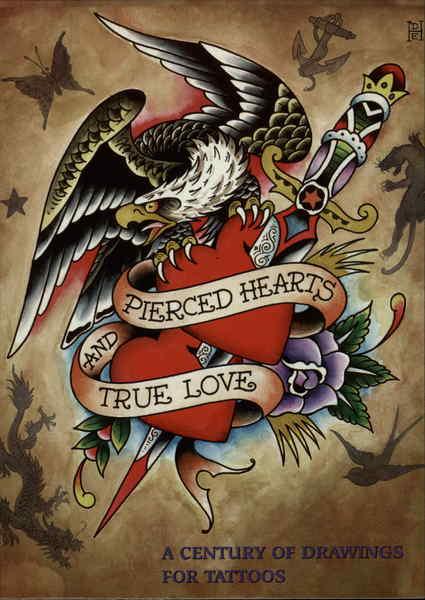 pierced hearts and true love pop art
