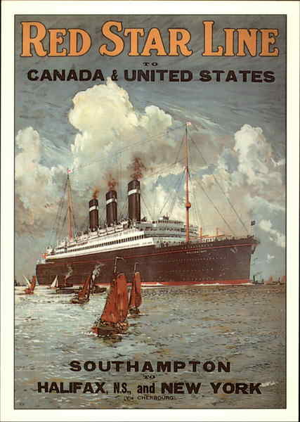 Red Star Line to Canada & United States Advertising Reproductions