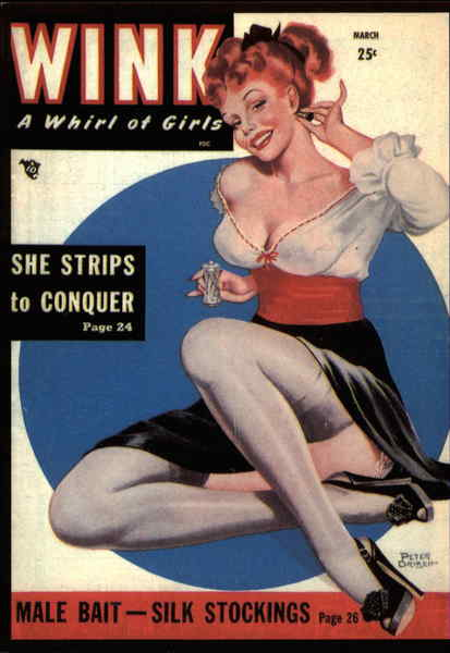 Pin- Ups / She Strips to Conquer Peter Driben Advertising Reproductions