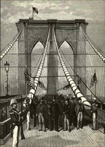 The Opening of the Brooklyn Bridge, May 24, 1883 New York City