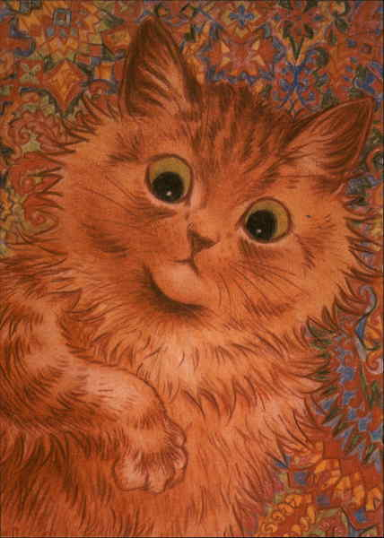 Ginger Cat (Reproduction) Louis Wain Cats