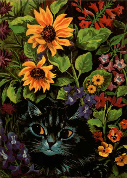 Garden Cat (Reproduction) Louis Wain Cats