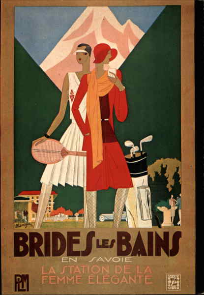 Brides-Les-Bains par L. Benigni Advertising Reproductions