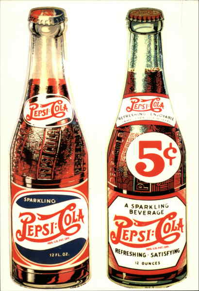 Pepsi Cola Bottles Advertising Reproductions
