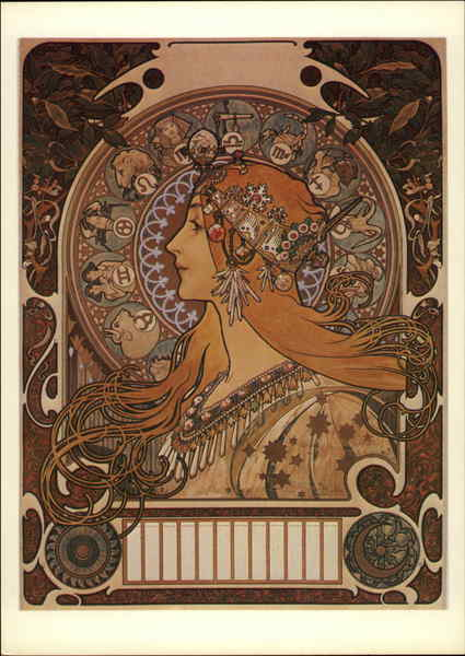 Alphonse Mucha. Zodiac, 1896 Advertising Reproductions