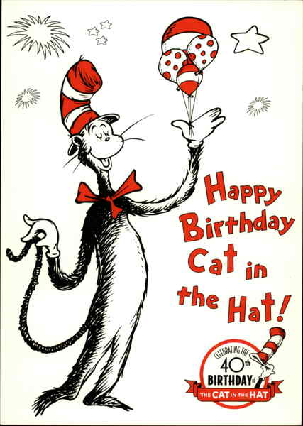 Happy Birthday Cat In The Hat Modern 1970 S To Present