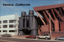 Venice, California - Binocular Sculpture Postcard