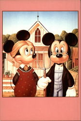 Mickey & Minnie Mouse American Gothic