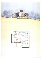 Plan and Section of the Burns House by Charles W. Moore