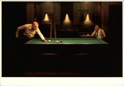 Two Old Men Playing Billards