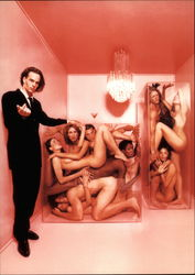 Joel West and Nudes in Plexiglas Boxes, New York, 1995