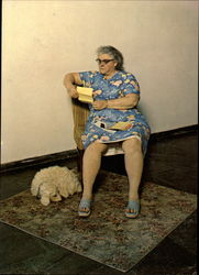 Woman with Dog, Reading 1978