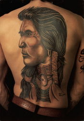 Red Indian Tattoo