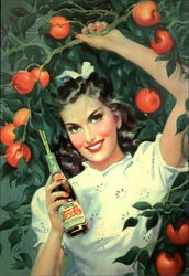 Woman with a Pepsi Under an Apple Tree