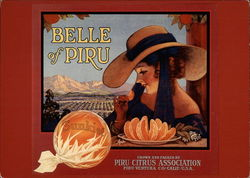 Belle of Piru, Orange Crate Label