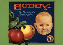 Buddy Apple Crate Label