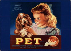 Pet Orange Crate Label