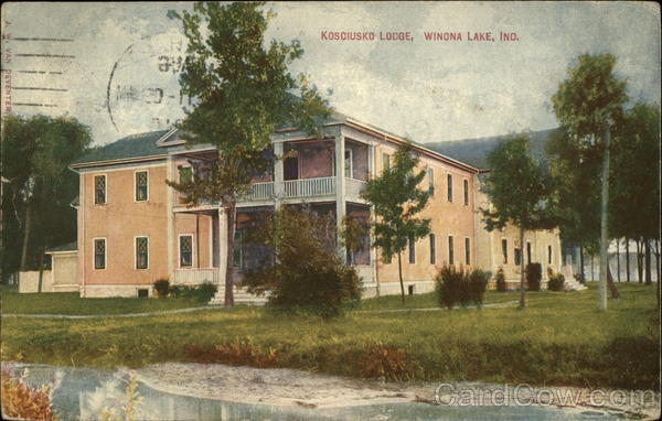 Kosciusko Lodge View from Lake Winona Lake Indiana