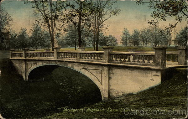 Bridge at Highland Lawn Cemetery Terre Haute Indiana