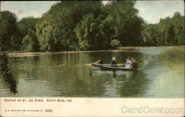 Boating on St. Joe River South Bend Indiana