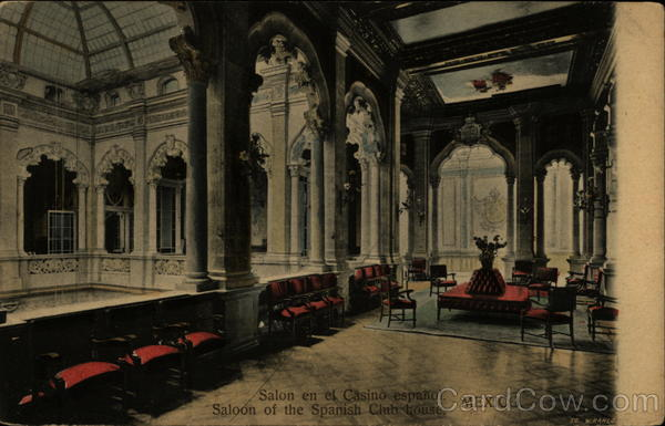 Saloon of the Spanish Club House Mexico