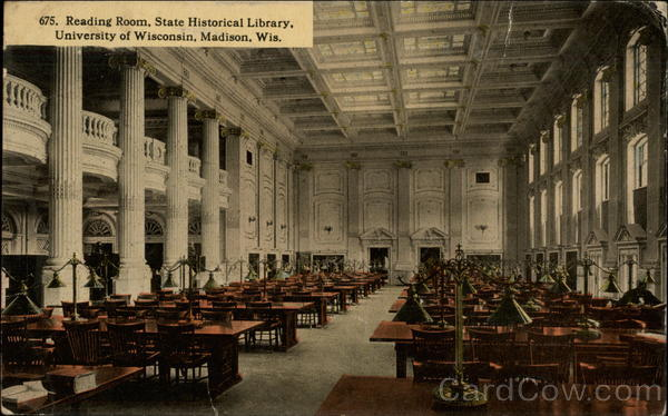 Reading Room, State Historical Library, University of Wisconsin Madison