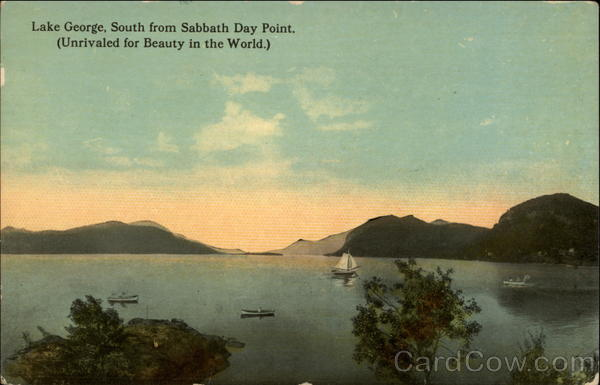 Lake George, South from Sabbath Day Point New York