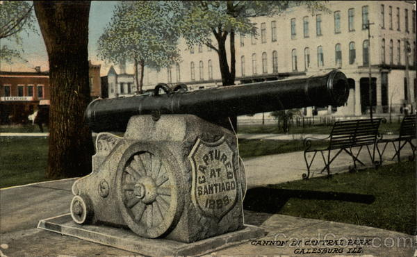 Cannon in Central Park Galesburg Illinois