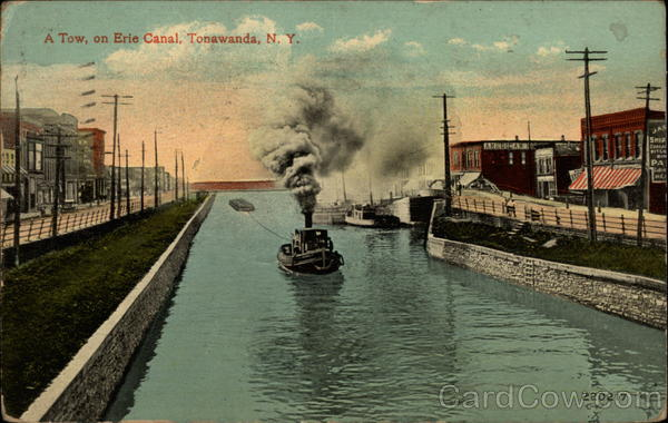 A Tow, on Erie Canal Tonawanda New York