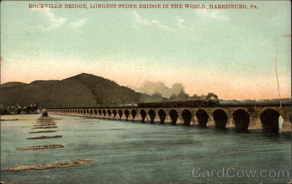 Rockville Bridge, Longest Stone bridge in the world Harrisburg Pennsylvania