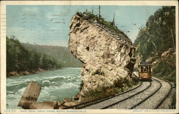 Giant Rock, Great Gorge Route Niagara Falls New York