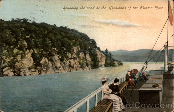 Rounding the bend at the Highlands of the Hudson River New York