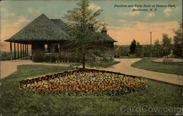 Pavilion and Tulip Beds at Seneca Park Rochester New York