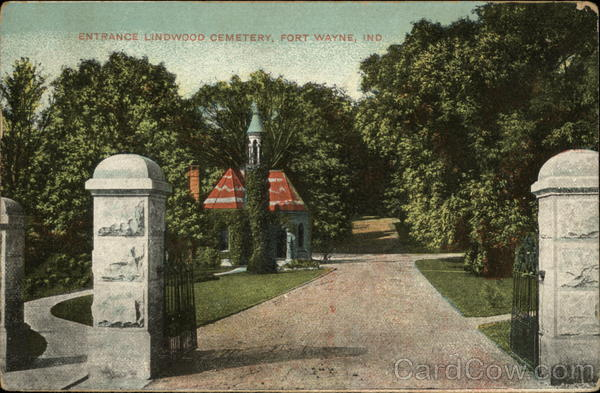Entrance Lindwood Cemetery Fort Wayne Indiana