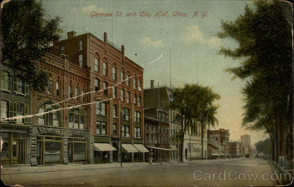 Genesee St. and City Hall Utica New York