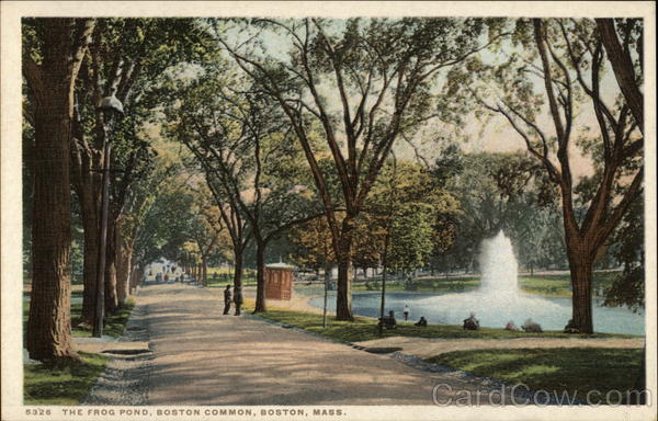 The Frog Pond, Boston Common Massachusetts