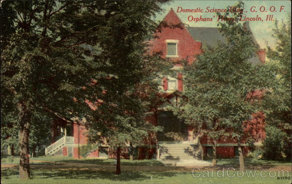 Domestic Science Bldg., G.O.O.F. Orphan's House Lincoln Illinois