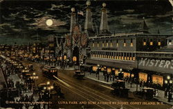 Luna Park and Surf Avenue By Night