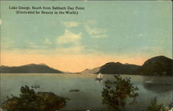 Lake George, South from Sabbath Day Point