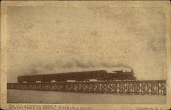 Moving Train on Bridge, Albemarle Sound