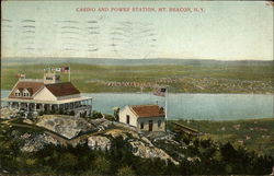 Casino and Power Station, Mt. Beacon Postcard