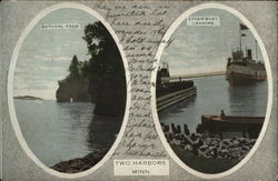 Natural Arch and Steam Boat Landing Postcard