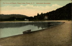 The cove and beach, Piseco Lake, Adirondack Mountains