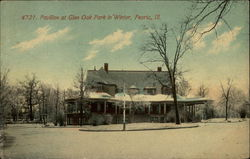 Pavillion at Glen Oak Park in Winter
