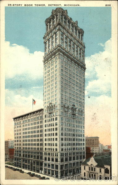 35-Story Book Tower Detroit Michigan