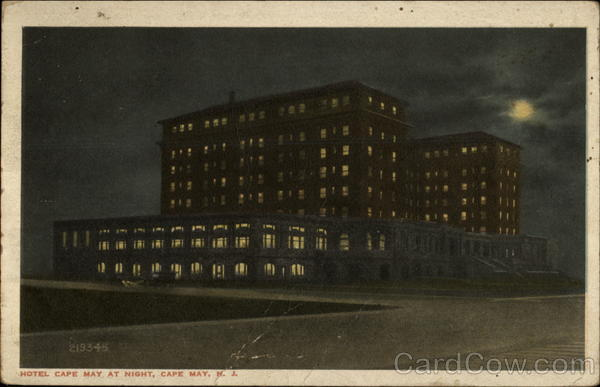 Hotel Cape May at night New Jersey