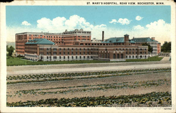 St. Mary's Hospital, Rear View Rochester Minnesota