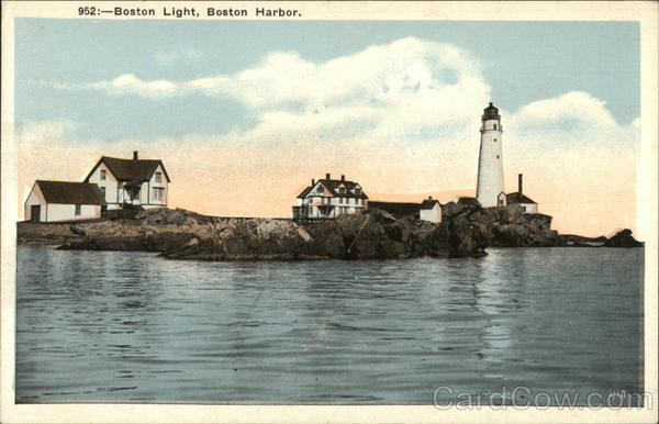 Boston Light House in Boston Harbor Massachusetts