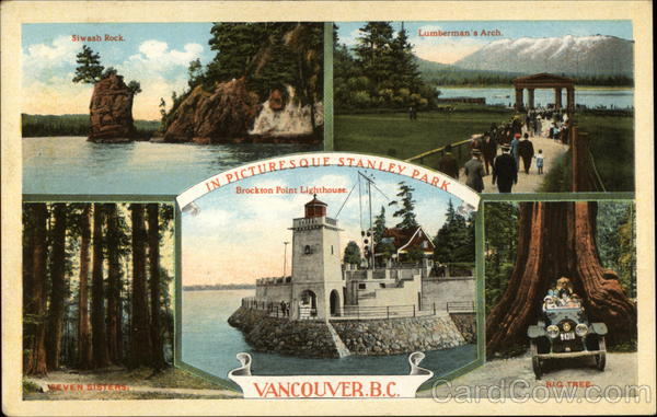 Scenes from Picturesque Stanley Park Vancouver Canada